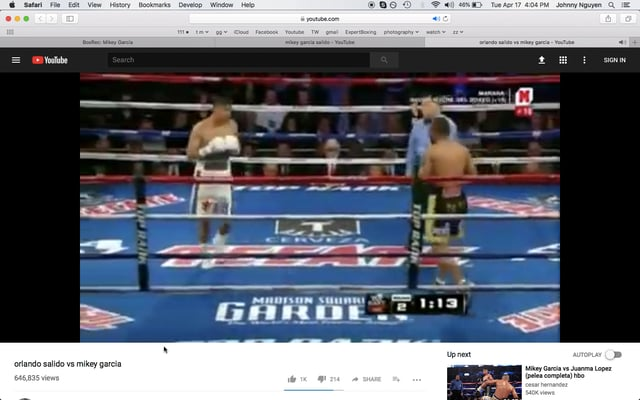 Mikey Garcia Video Study – left hand push, squared stance, and patience