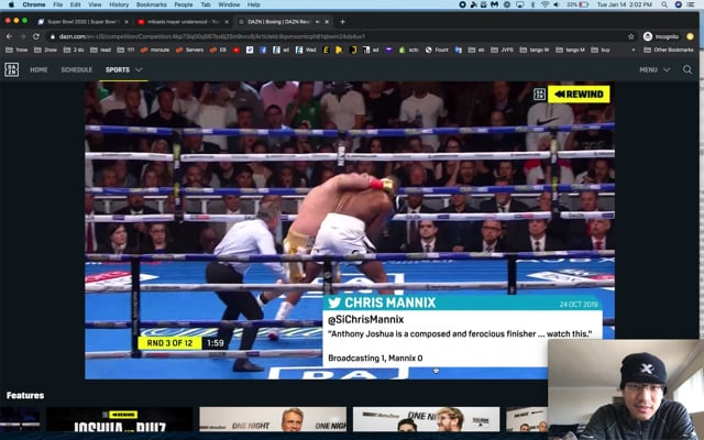 Andy Ruiz video study, parrying, double-jabs, exchanges, calm stalking